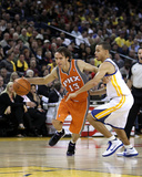Phoenix Suns v Golden State Warriors: Steve Nash and Stephen Curry Photographic Print
