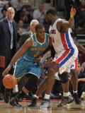 New Orleans Hornets v Detroit Pistons: Chris Paul and Jason Maxiell