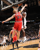 Chicago Bulls v San Antonio Spurs: Antonio McDyess and Brian Scalabrine Photographic Print
