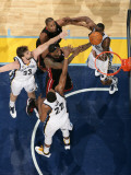 Miami Heat v Memphis Grizzlies: LeBron James, Rudy Gay, Marc Gasol and Darrell Arthur
