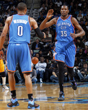 Oklahoma City Thunder v New Orleans Hornets: Kevin Durant and Russell Westbrook Photographic Print
