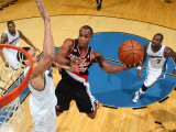 Portland Trail Blazers v Washington Wizards: Dante Cunningham and JaVale McGee