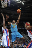 New Orleans Hornets v Detroit Pistons: David West and Jason Maxiell