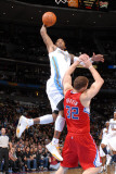 Los Angeles Clippers v Denver Nuggets: J.R. Smith and Blake Griffin