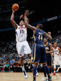 Indiana Pacers v Atlanta Hawks: Al Horford and Solomon Jones
