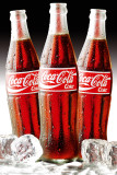 COCA COLA - Bottles Ice Poster