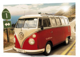 VW CAMPER - Route One, 3-D Poster