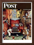 """Road Block"" Saturday Evening Post Cover, July 9,1949"