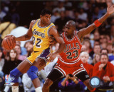 Michael Jordan & Magic Johnson 1990 Action