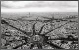 Paris, l'Etoile Vue du Ciel