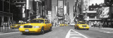 Times Square - yellow cab Door Poster