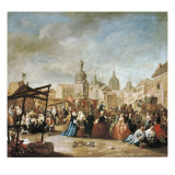 The Madrid Fair in the Plaza De La Cebeda Giclee Print