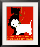 Holiday by Rail Framed Art Print