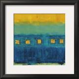 Blue Train Framed Art Print