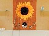 Single Sunflower Wall Decal