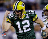 Aaron Rodgers Action from Super Bowl XLV (#19)