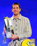 Aaron Rodgers with Super Bowl XLV MVP Trophy (#23)