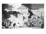 The Devastations Occasioned by the Rioters of London Firing the New Gaol of Newgate