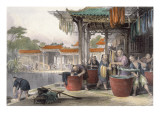 Dyeing and Winding Silk, from 'China in a Series of Views' by George Newenham Wright
