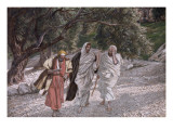 Buy The Disciples on the Road to Emmaus, Illustration for 'The Life of Christ', C.1884-96 at AllPosters.com