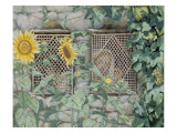 Buy Jesus Looking Through a Lattice with Sunflowers, Illustration for 'The Life of Christ', C.1886-96 at AllPosters.com