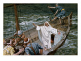 Buy Christ Stilling the Tempest, Illustration for 'The Life of Christ', C.1886-94 at AllPosters.com