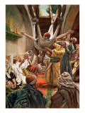 Buy The Palsied Man Let Down Through the Roof, Illustration for 'The Life of Christ', C.1886-94 at AllPosters.com