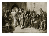 James Iv in Council before the Battle of Flodden, 1513 Giclee Print