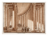Buy Interior of the Colonnade of St. Peter's Square, 1833 at AllPosters.com