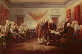 Signing the Declaration of Independence, 4th July 1776, C.1817 Giclee Print