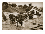 The First British Troops Disembark from the Specially Designed Landing Ladders