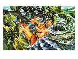Odysseus Hanging on to a Fig Tree to Escape the Whirlpool