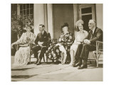 Hyde Park, New York. from Left: Mrs Roosevelt, King George Vi, Mrs James Roosevelt