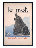 David and Goliath, Front Cover of 'Le Mot', 28th November 1914