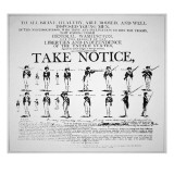 'Take Notice', American Revolutionary War Recruitment Poster