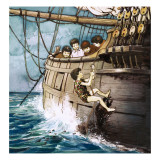 Peter Pan Climbing Aboard, Illustration from