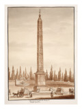 Buy The Piazza Del Popolo Obelisk, from the Circus Maximus, 1833 at AllPosters.com