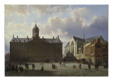 Dam Square with the Royal Palace, Amsterdam, 1855