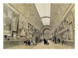 View of the Great Gallery at the Louvre, C.1850-70
