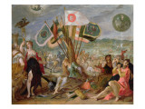 Allegory of the Turkish Wars: the Battle of Hermannstadt Giclee Print