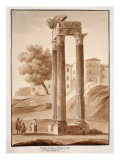 Buy The Temple of Jupiter Tonans - Restored by Camporesi, 1833 at AllPosters.com