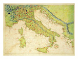 Italy, from an Atlas of the World in 33 Maps, Venice, 1st September 1553