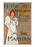 Cover Illustration for 'Harper's' Magazine Featuring 'The Martian' by Dumaurier, 1898
