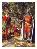 Robin Hood and Richard the Lionheart Giclee Print