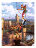 Robin Hood Shooting into Nottingham Castle Giclee Print