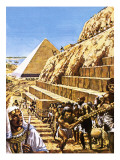 Construction of the Great Pyramid at Giza