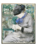 Girl Sitting in the Garden, or Knitting, 1879 Giclee Print