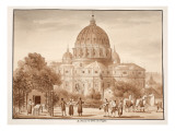Buy St. Peter's Seen from a Vineyard, 1833 at AllPosters.com