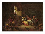 Peasants Merrymaking at Table in a Cottage Kitchen