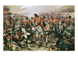 Charge of the Scots Greys at Waterloo